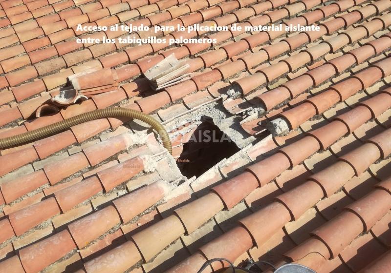 Apertura acceso al tejado