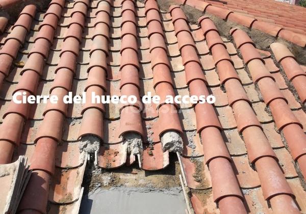 Cierre del acceso del tejado