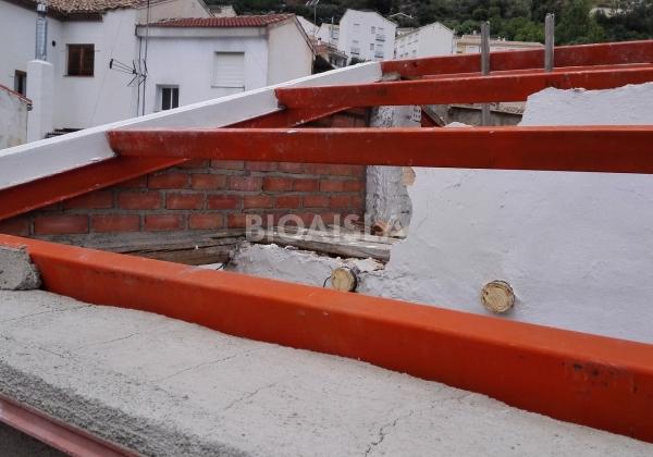 Nueva estructura mas ligera y liviana para el tejado