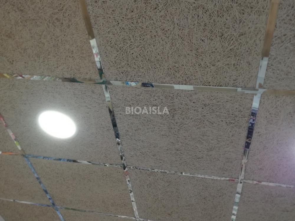 Falso techo registrable termo acústico con materiales ecológicos locales comerciales