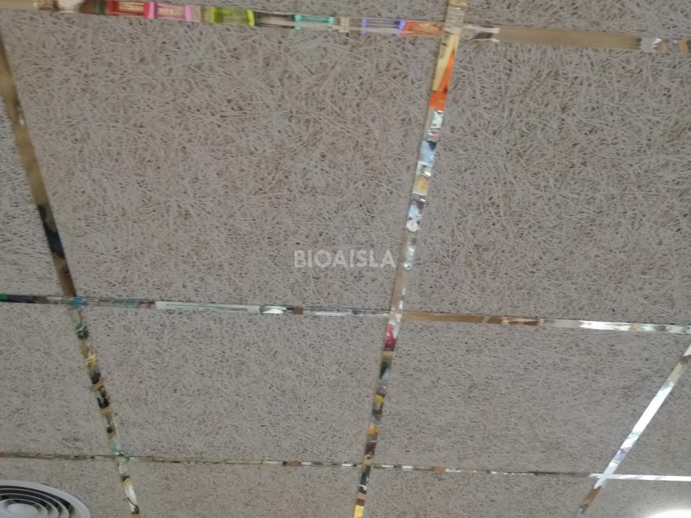 Falso techo registrable termo acústico con materiales ecológicos