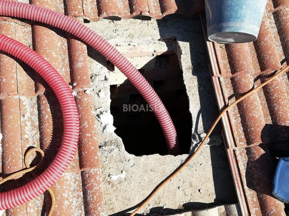 Acceso para aislar el tejado